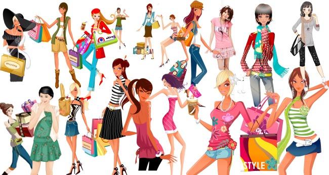 卡通时尚美女模板下载图片编号:11749840