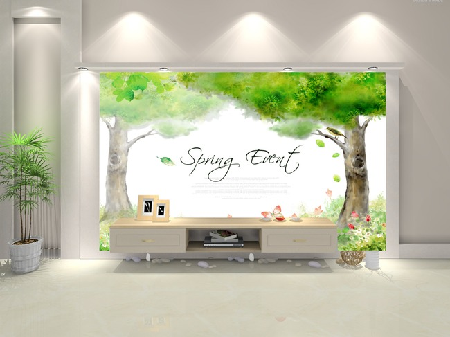 大树背景墙模板下载 大树背景墙图片下载