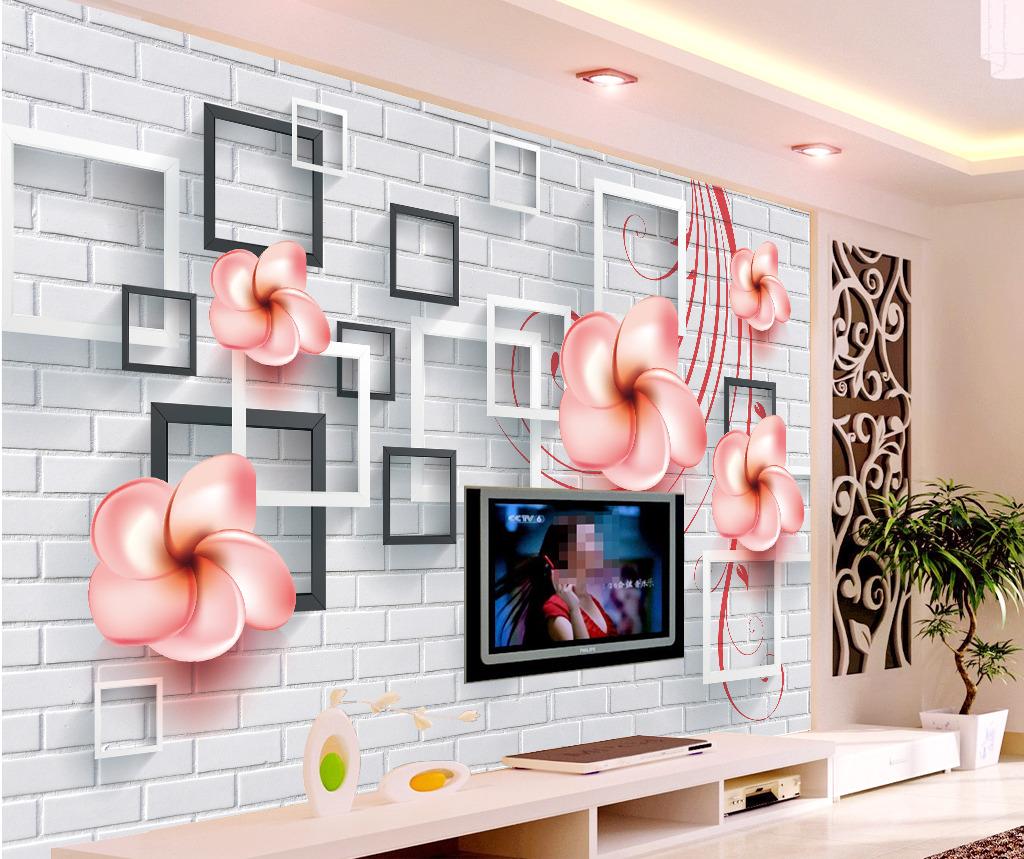 3d立体相框电视墙