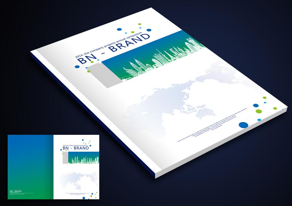白色高档建筑企业画册封面设计模板下载 白色高档建筑企业画册封面