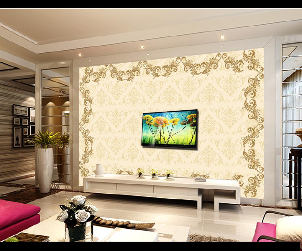 沙发背景墙 卧室背景墙 瓷砖背景墙 壁画成品 电视墙 形象墙 欧式花纹图片
