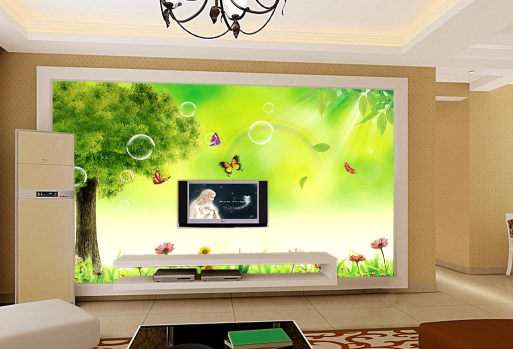 清新客厅电视背景墙模板下载(图片编号:11754914)
