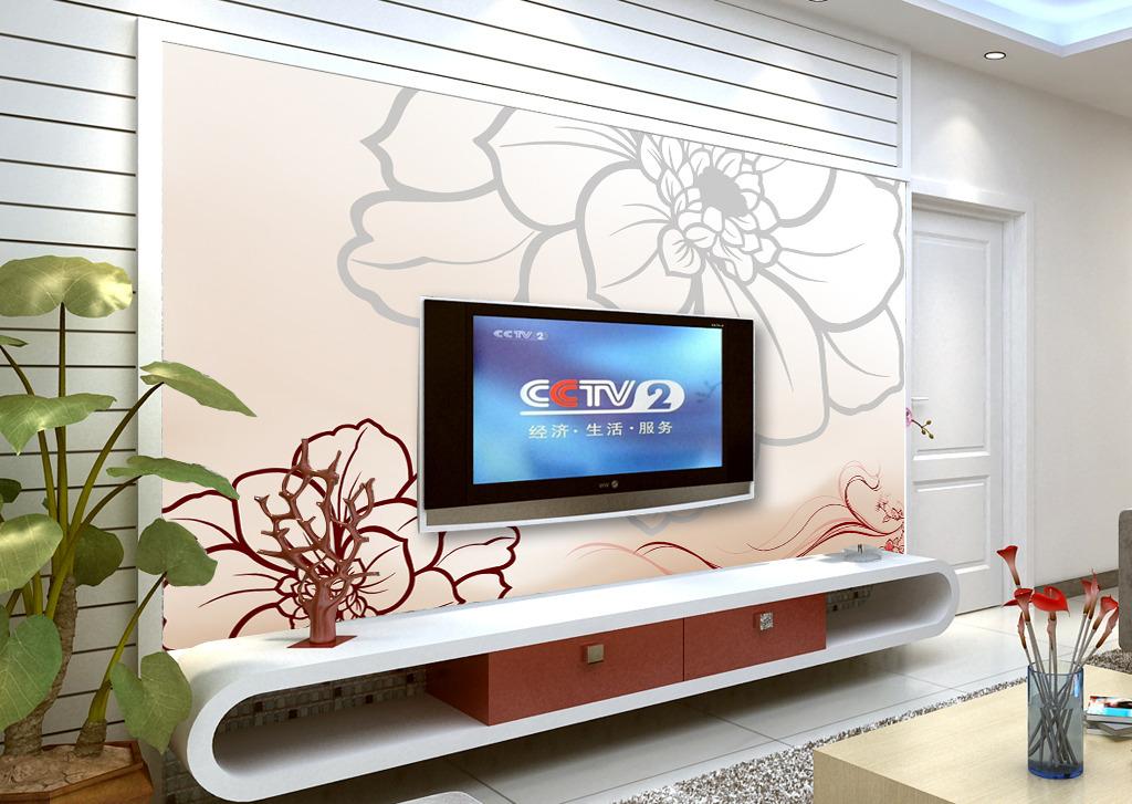 装修电视背景墙画电视柜装修背景墙图片3
