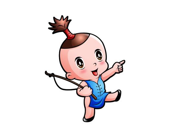 牧童卡通形象设计图片