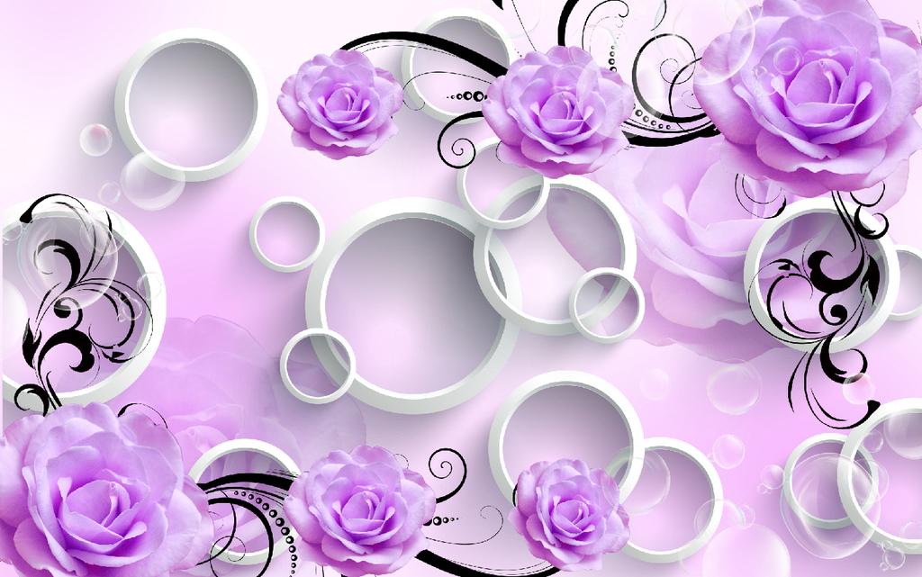 手绘玫瑰花花边,底纹背景