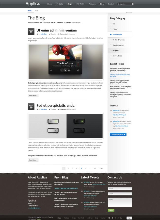 智能手机app网页设计内页设计图片