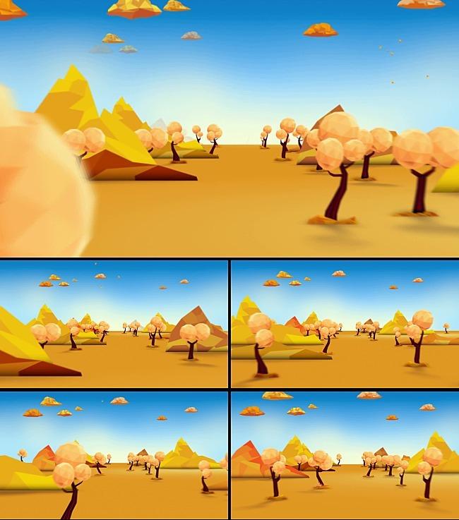沙漠游戏地图卡通
