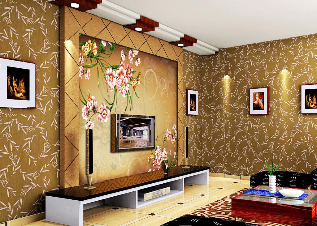 欧式油画花朵客厅电视背景墙装饰画
