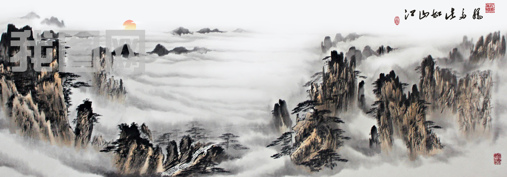 山水如画 菜籽花 泰安地下大裂谷图片