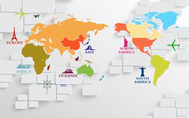 3d电视背景墙 > 3d立体壁画世界地图电视背景墙  中国最大的设计作品