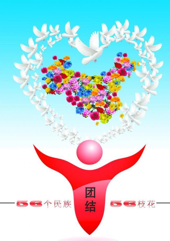 民族团结海报图片