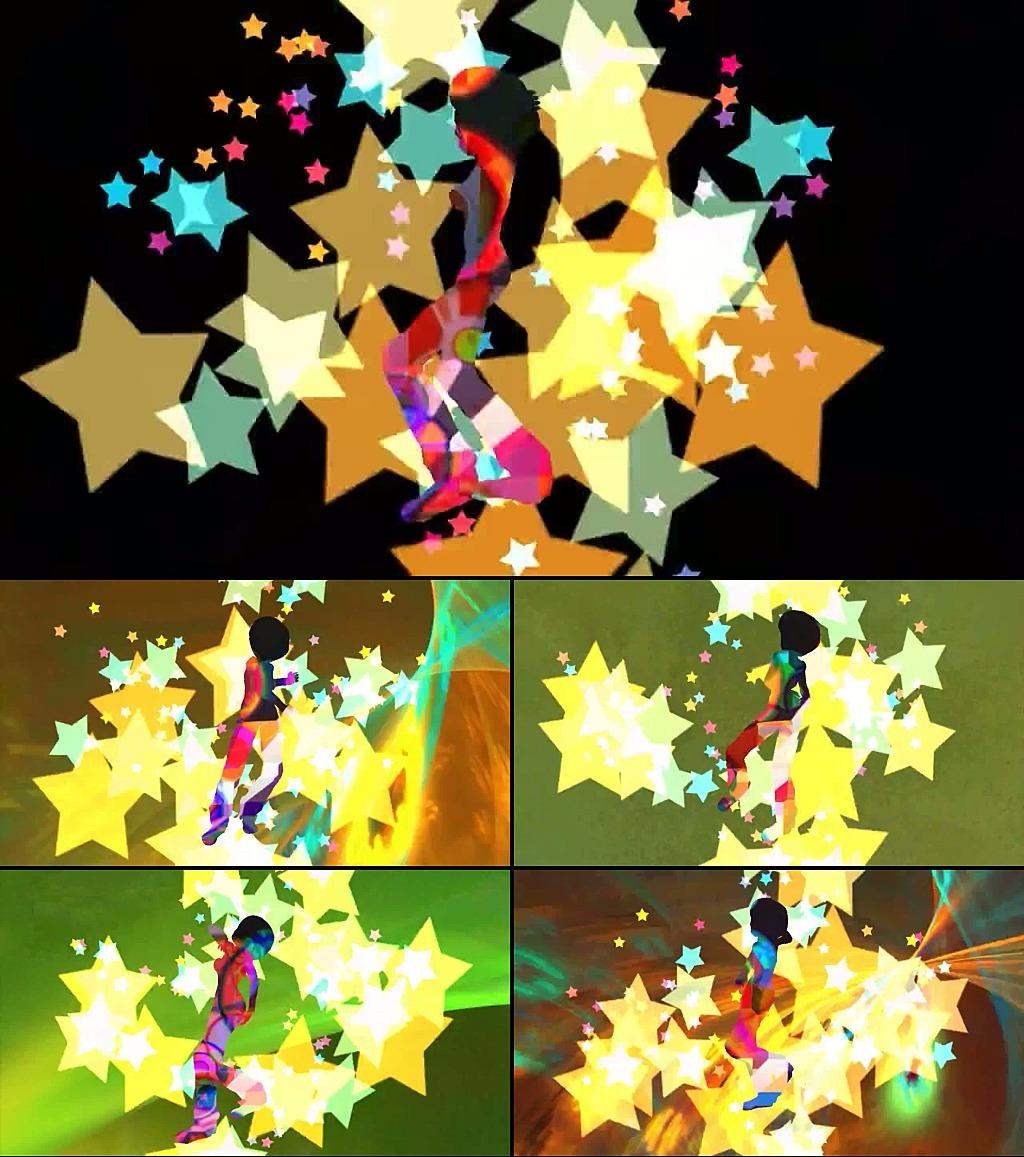 卡通舞蹈动态特效视频素材