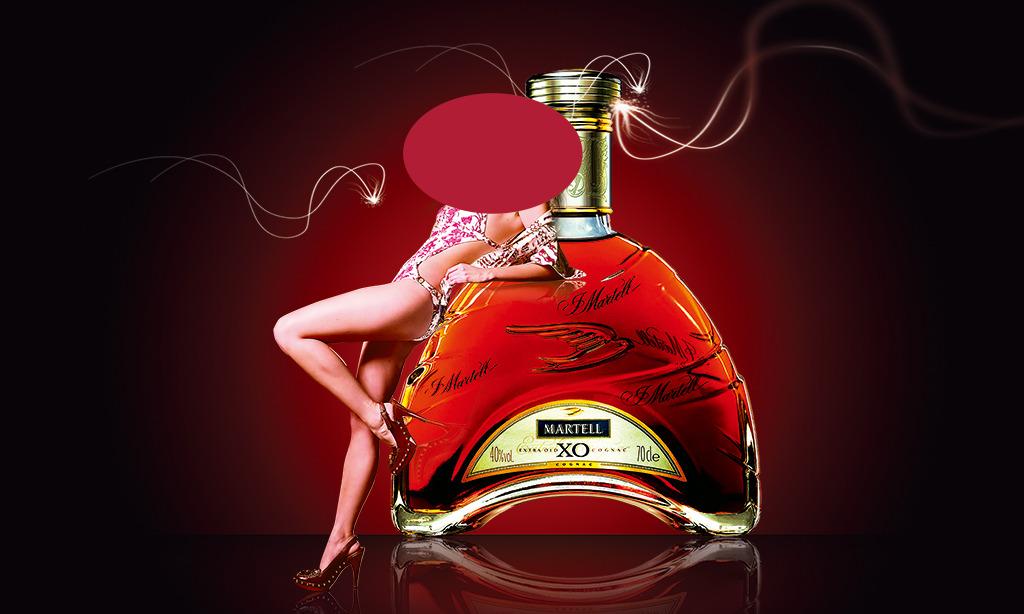 红酒美女海报模板下载