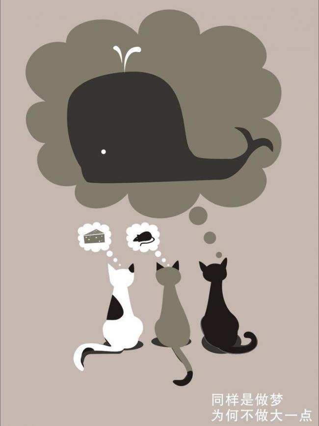 卡通猫 猫 做梦图片