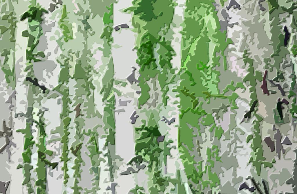 高清木刻效果白桦树系列装饰画背景墙秋意