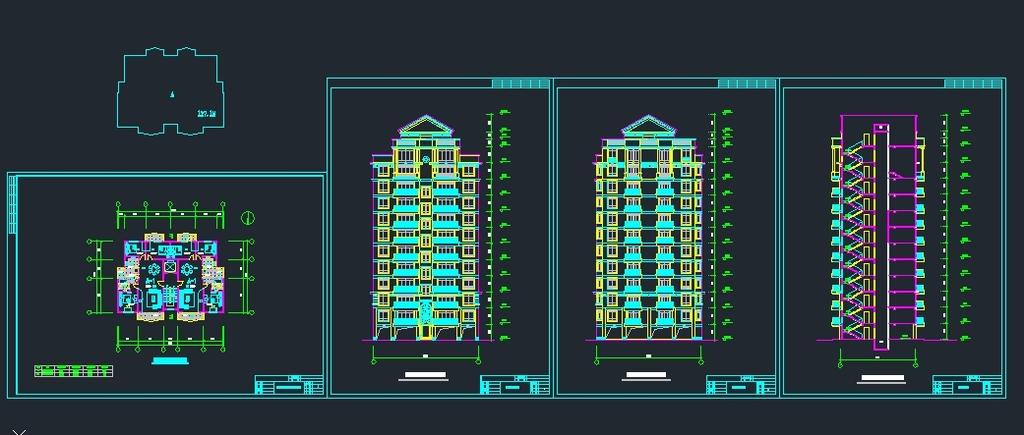 cad平面户型图建筑外立面图