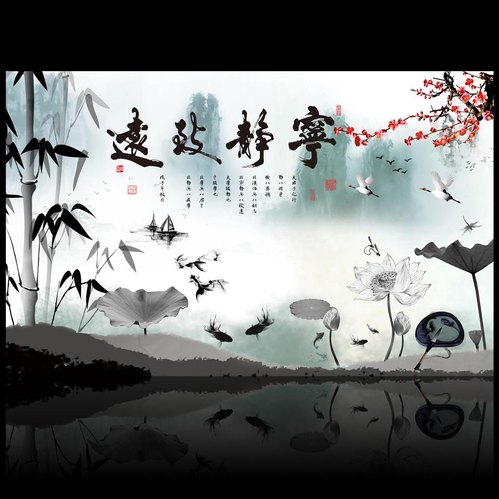 竹子装饰墙,墙面装饰,沙发背景墙装饰画_点力图库