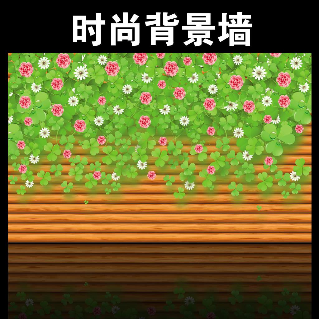蔷薇花藤电视背景墙装饰画