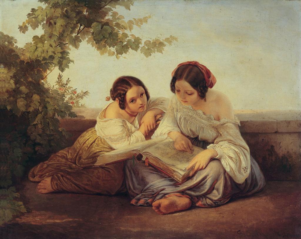 2 girls reading a dirty magazine 3