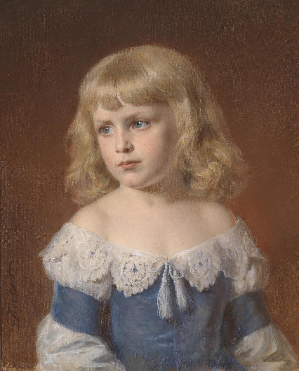 人物 油画/古典人物油画小女孩