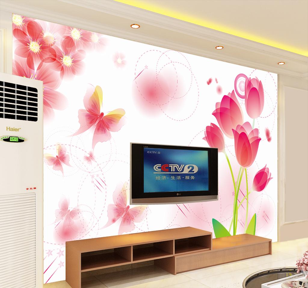 背景墙 花卉/淡雅花卉时尚背景墙