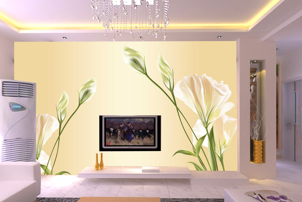 欧式风格壁纸墙纸客厅电视背景墙