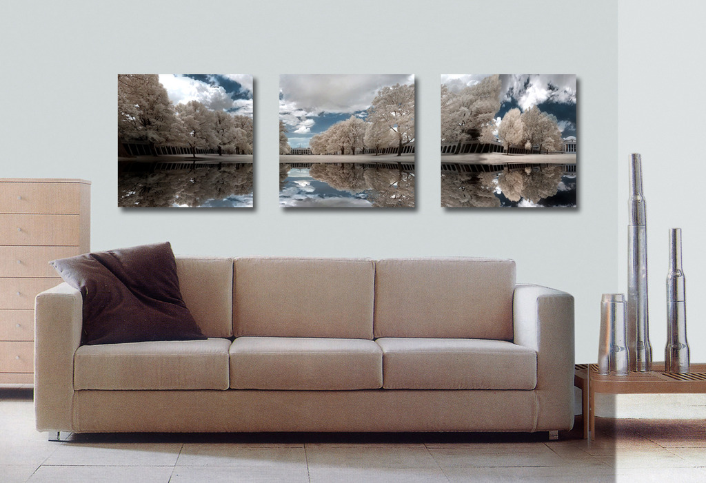 树木手绘单体沙发