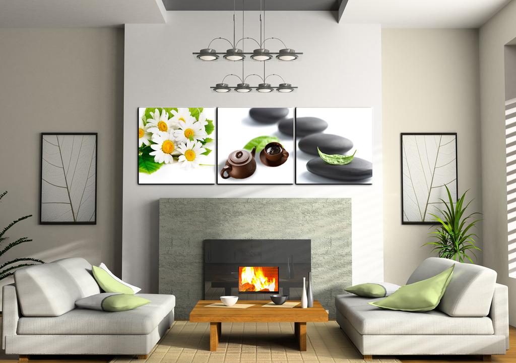 手绘墙画茶文化