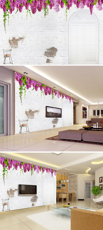 背景墙/[版权图片]紫藤花背景墙