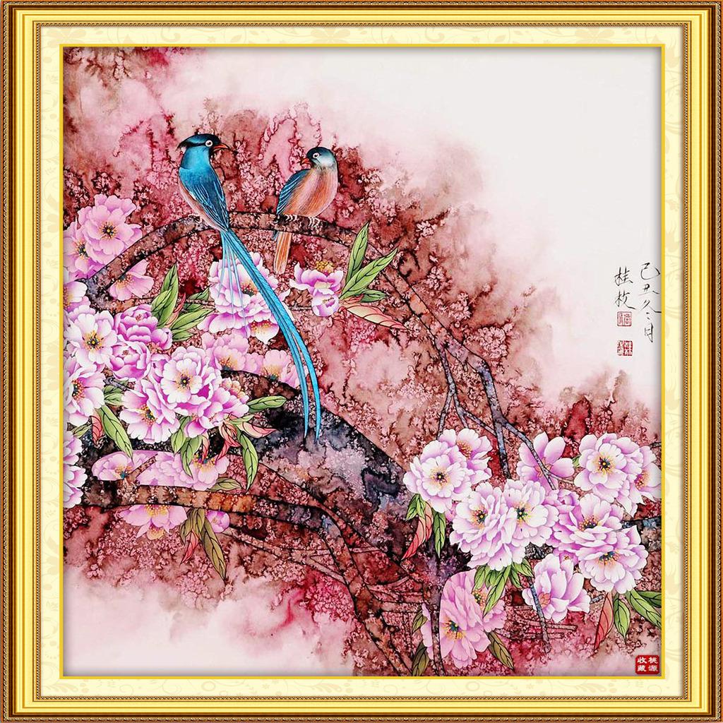 画无框画   现代中式水墨国 画花鸟 新 中式 仿古挂画彩绘屏风   红树林