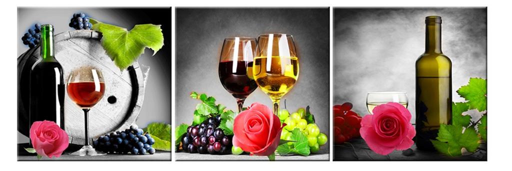 红酒葡萄美酒无框画 装饰画