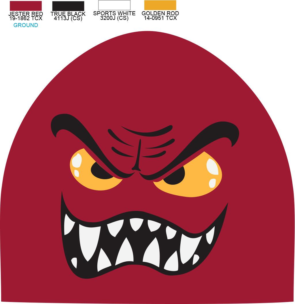 抽象愤怒恶魔印花AI矢量图素材欧美印花模板下载 11819623 服装插画