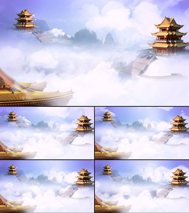 天宫仙境古典中国风led高清通用视频图片