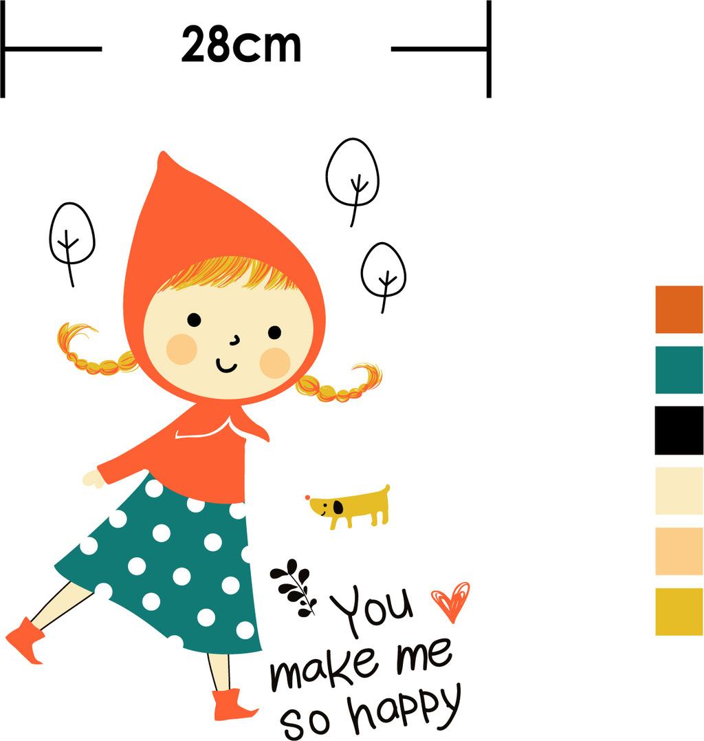 韩国童装印花图案 童装t恤印花图案 卡通女孩小狗字母印花素材