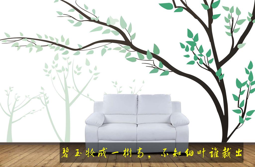 装饰画 电视背景墙 手绘电视背景墙