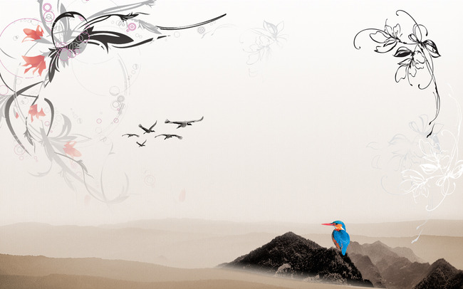 简约水墨画中国风客厅电视背景墙装饰画