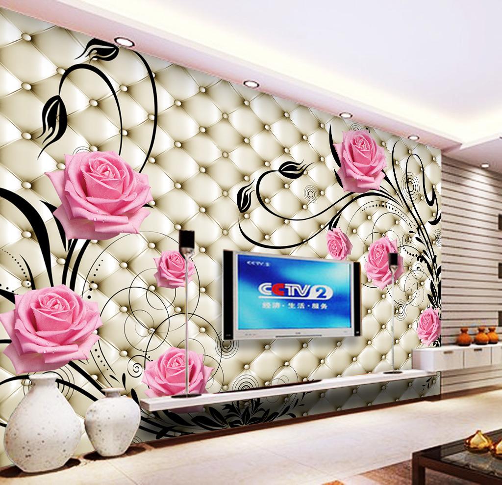 客厅3d电视背景墙壁纸壁画