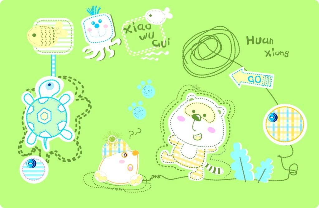 可爱卡通图案模板下载(图片编号:11837437)