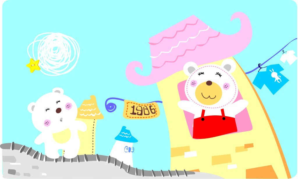 可爱卡通小熊图案模板下载(图片编号:11837608)