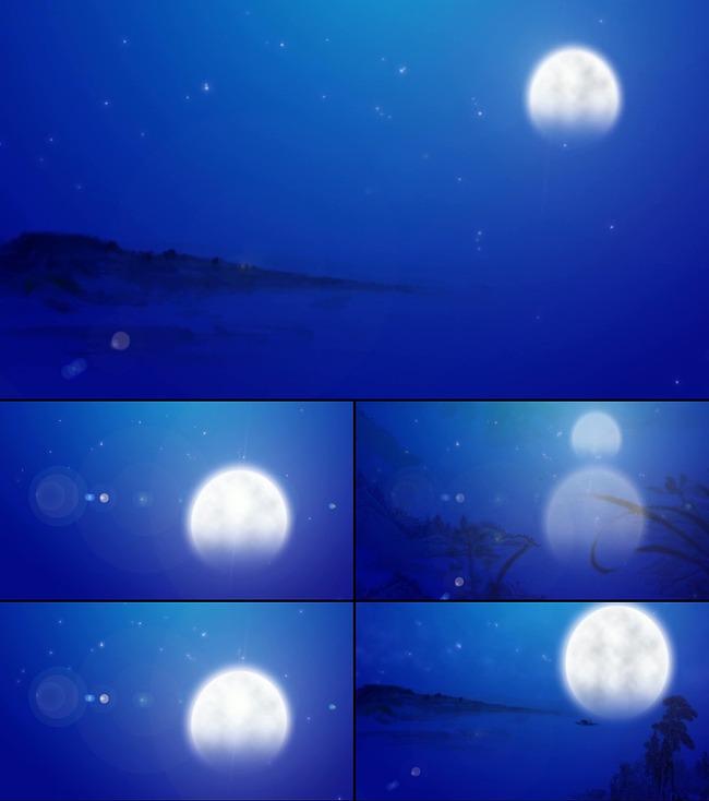 中国风月亮背景图
