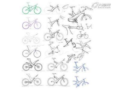 自行车设计资料图片 手绘