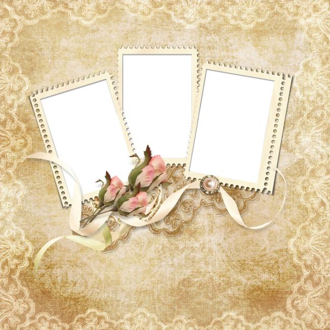 背景图片/古典相框背景图片
