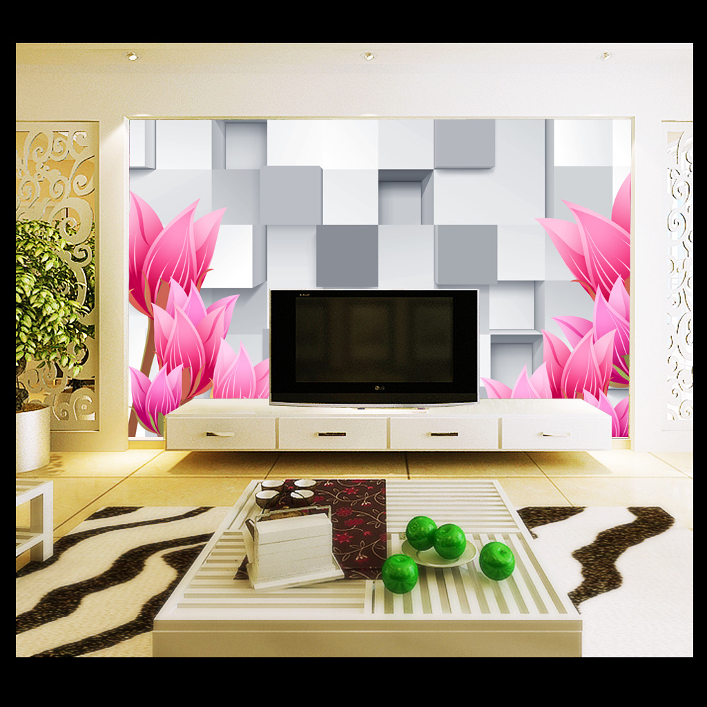 背景墙 花卉/时尚花卉3D立体背景墙