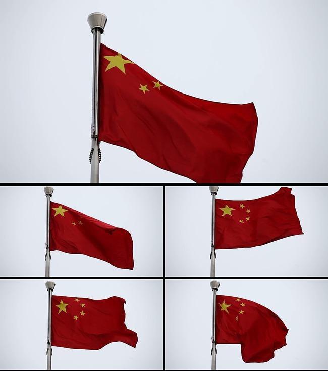 国旗飘扬国庆节日视频