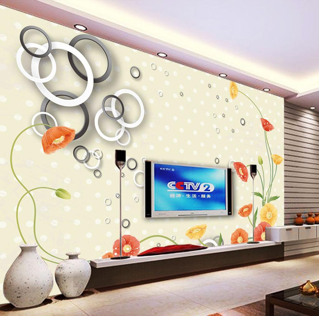 3d圆圈电视背景墙