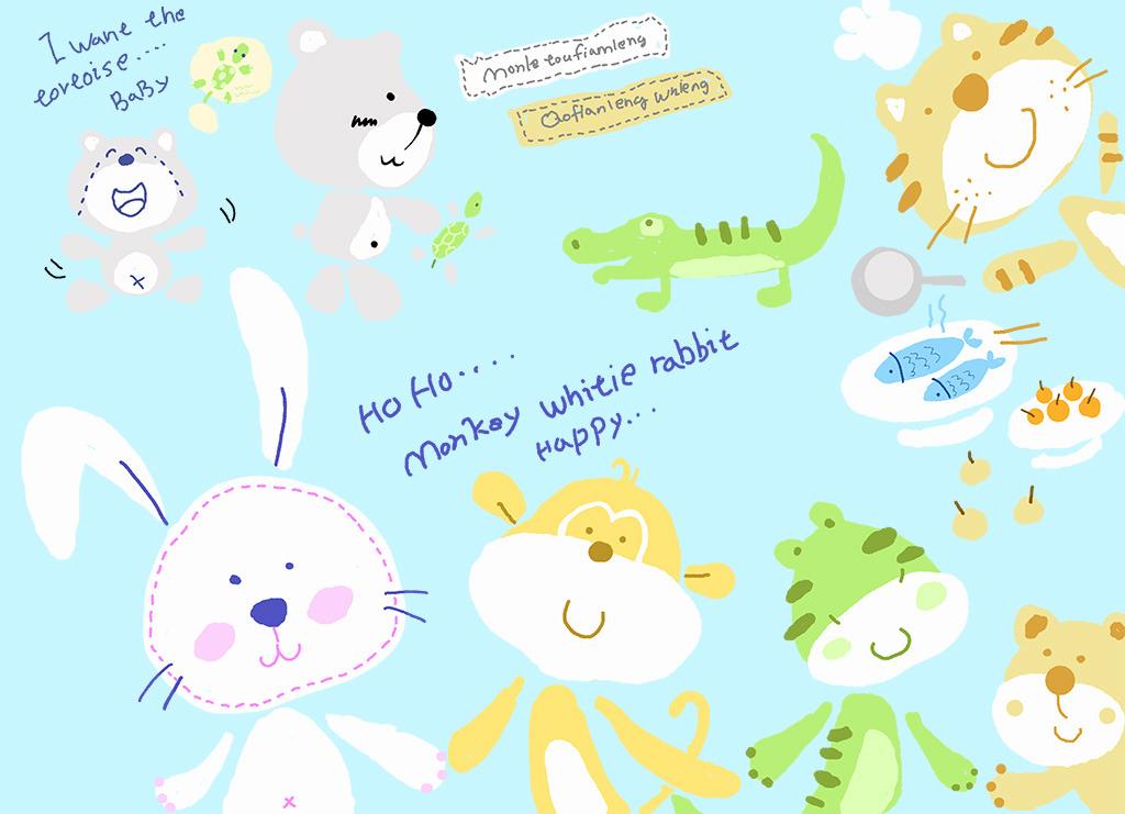卡通动物图案模板下载(图片编号:11864518)