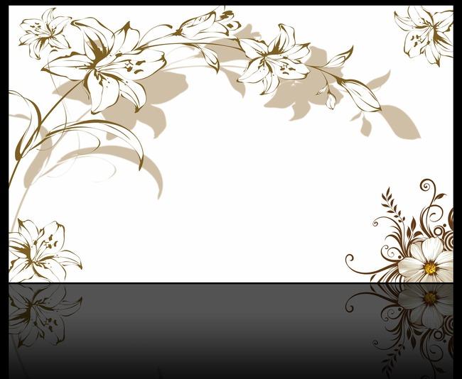 欧式手绘百合花壁画墙纸背景墙