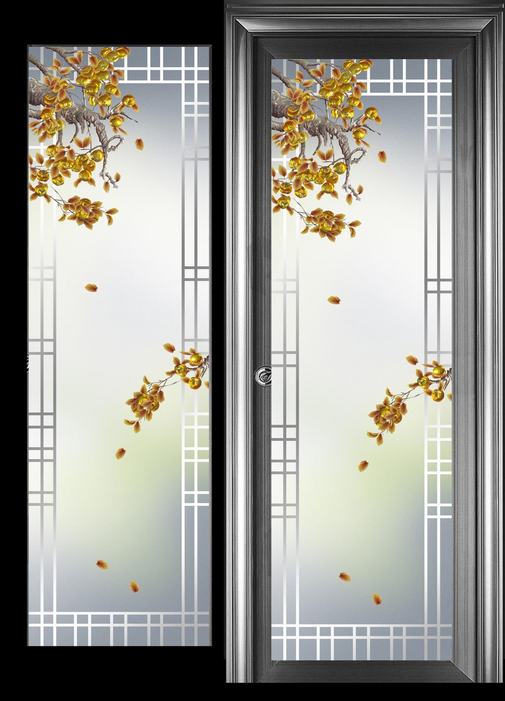 艺术玻璃花型囹�b_艺术玻璃平开门