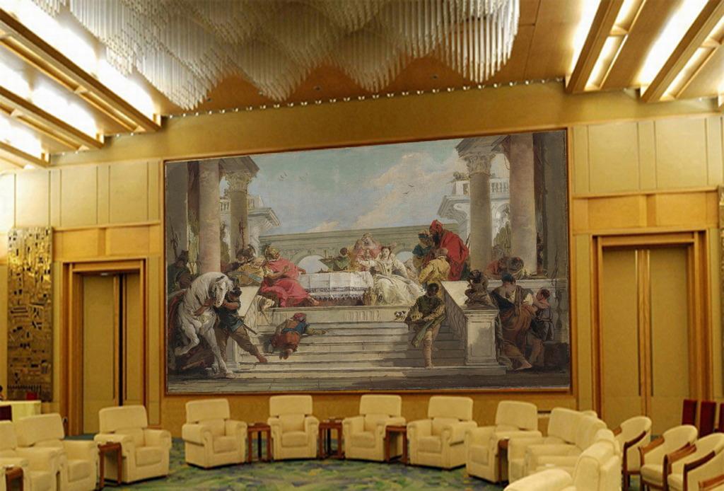 欧式壁画背景墙图片