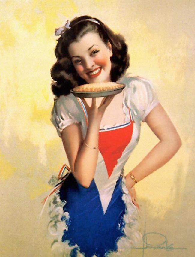 复古欧美美女插画图片模板下载图片编号:118